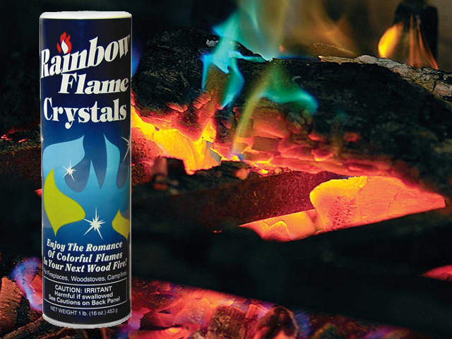 Rainbow Fireplace Flame Crystals