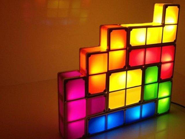 Stackable Tetris LED Desk Lamp - GetdatGadget