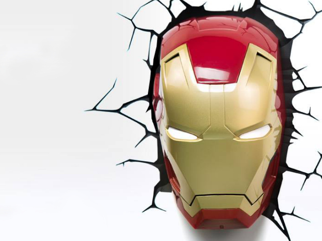 Iron man mask 3d deco light getdatgadget