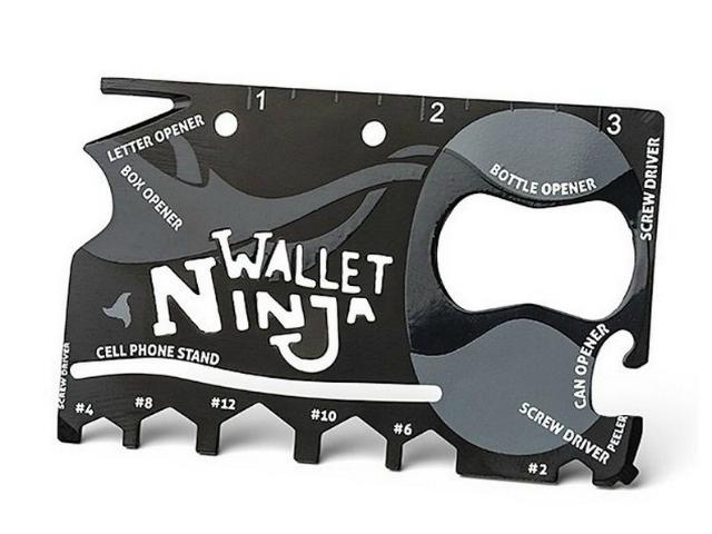 Wallet Ninja 16-in-1 Pocket Multi-Tool