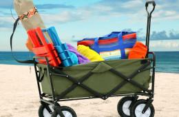 Mac Sports Collapsible Wagon Hauls Your Beach Gear