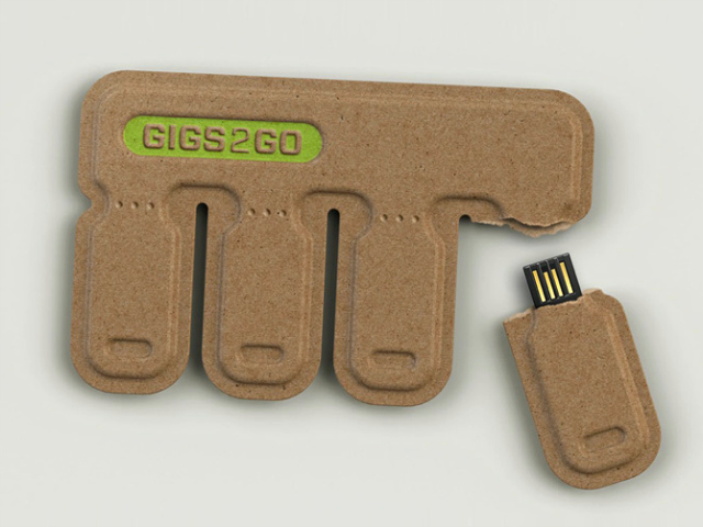Gigs 2 Go Disposable Thumb Drives