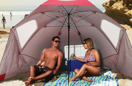 Portable Sun and Weather Shelter for Rain or Shine