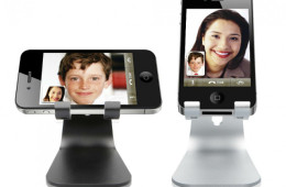 elago M2 Mobile Stand Angled For Video Conferencing