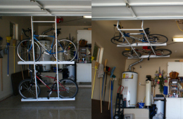 Motorized Horizontal Double Bike Lift