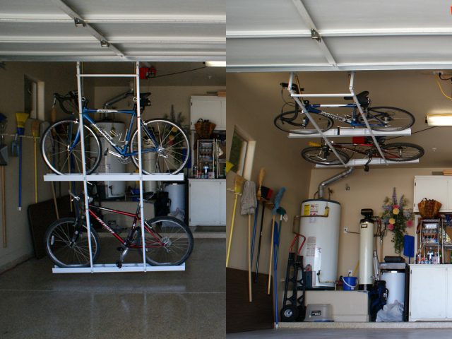 Motorized Horizontal Double Bike Lift Getdatgadget