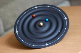 Orbit Planet Clock Tells Time Using Orbiting Planets