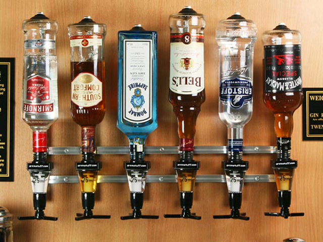 Rack and Pour Liquor Dispenser