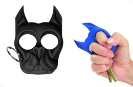 Brutus The Bull Dog Self Defense Keychain