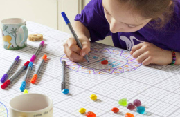 Unleash your Artistic Side with the Doodle by Stitch Tablecloth