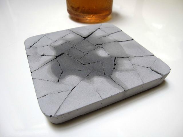 Kalki'd Cement Coaster