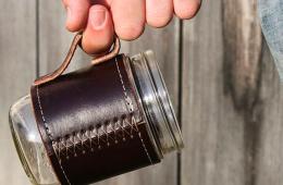 Holdster Leather Canning Jar Travel Mug – Upcycle your Mason Jar