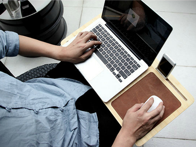 Bamboo Cooling Pad Lap Desk Lets Nature Cool Your Laptop Getdatgadget