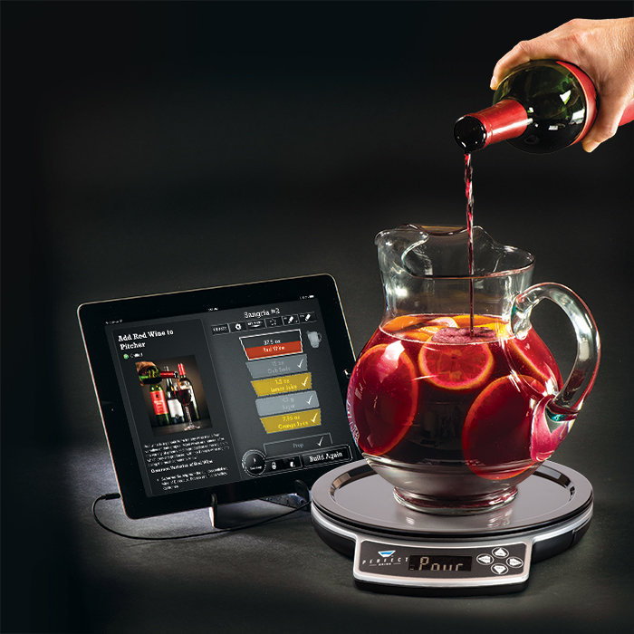 Perfect drink app controlled smart bartending makes the for Perfect drink smart scale app