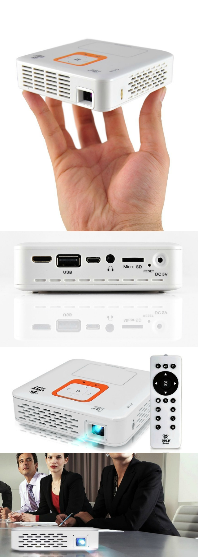 Pyle smart pocket projector presentations in your palm for Smart pocket projector