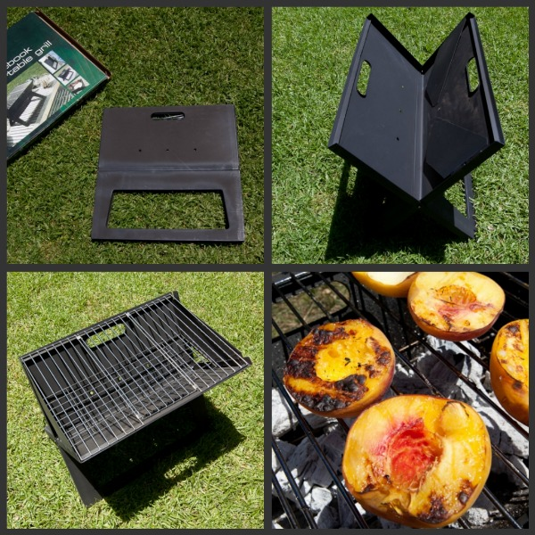 notebook charcoal grill folds flat for easy carry. Black Bedroom Furniture Sets. Home Design Ideas