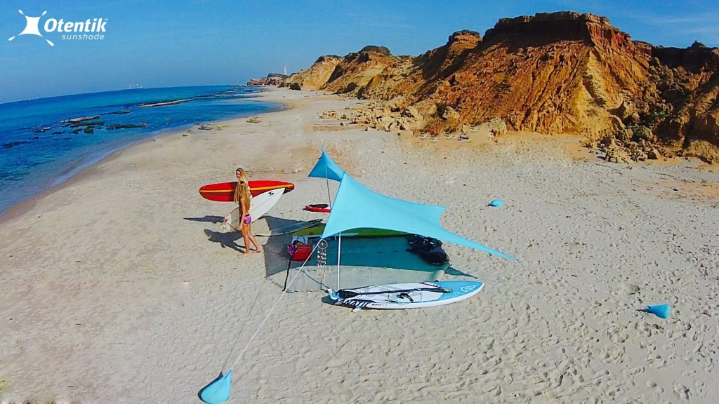 Otentik SunShade Beach Tent the Size of a Rolled-up Towel & Otentik SunShade: Beach Tent the Size of a Rolled-up Towel ...