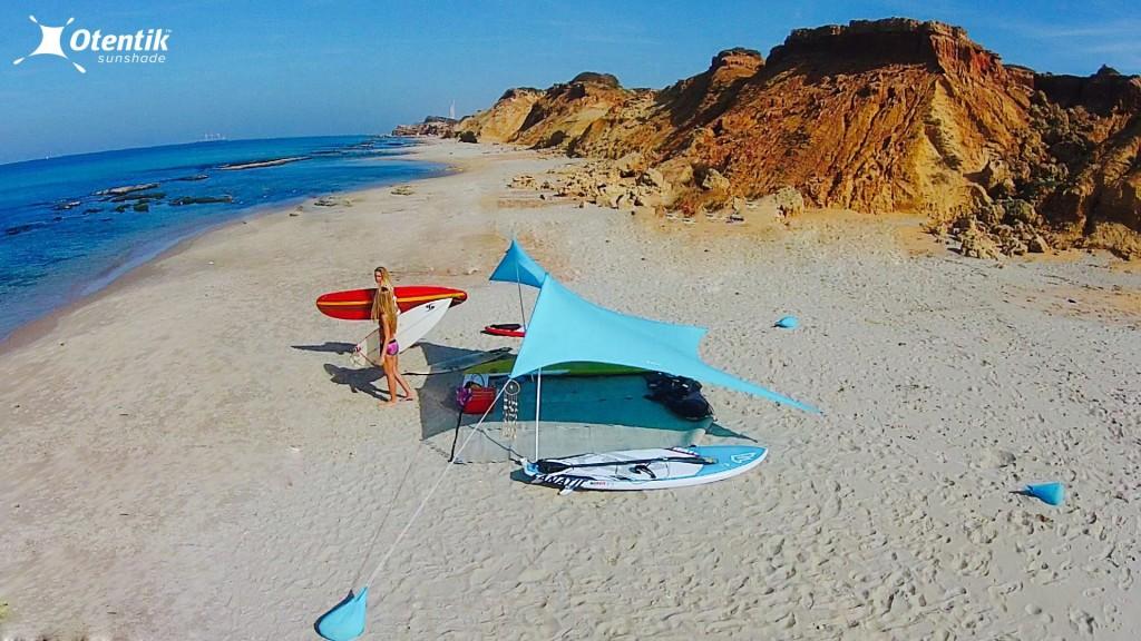 Otentik SunShade Beach Tent the Size of a Rolled-up Towel & Otentik SunShade: Beach Tent the Size of a Rolled-up Towel ...