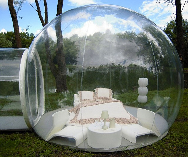 Sleep Under The Stars With The Inflatable Clear Bubble