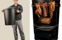 Mike S Vertical Grill Cooks In Half The Time Getdatgadget