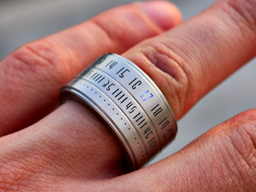 Ring Clock Your Watch On Your Finger Getdatgadget