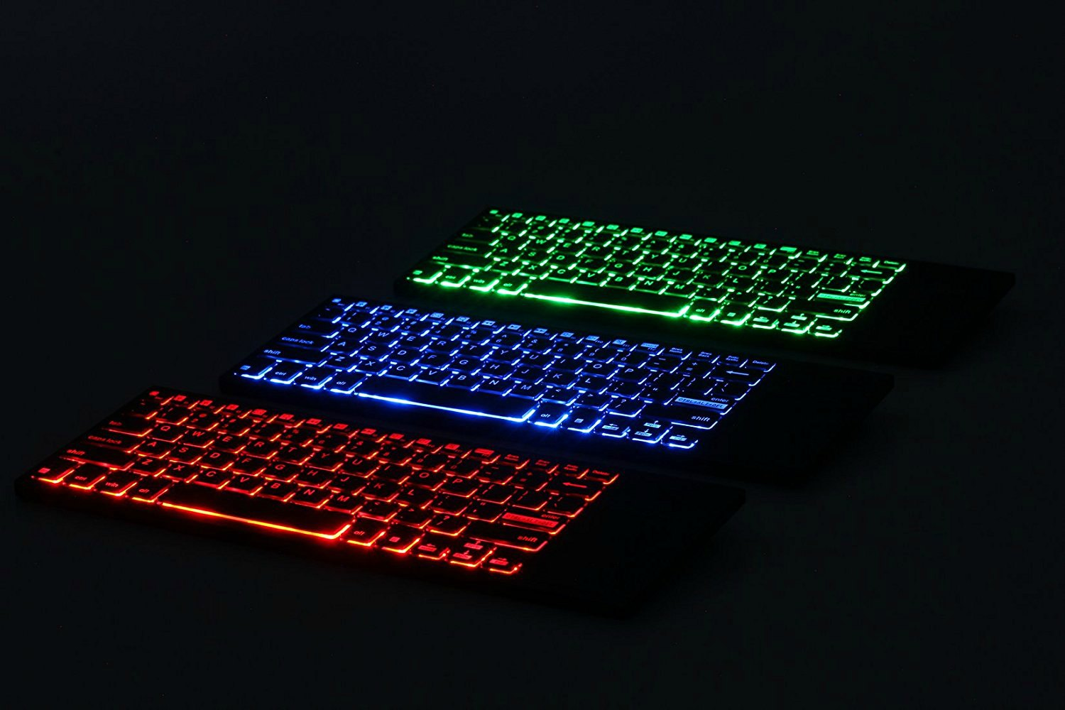 Ipazzport Wireless Keyboard Has Multicolored Illumination